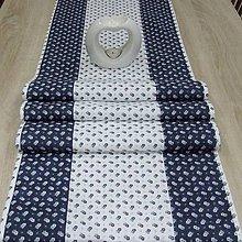 Úžitkový textil - Kuchyňa v modrom(2) - stredový obrus - 10300015_