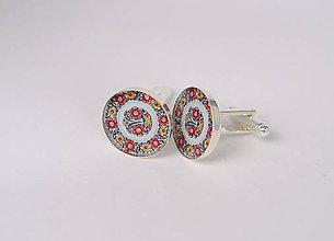 Šperky - manžetové gombíky maľovaný folk - 10300241_