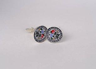 Šperky - manžetové gombíky folklórne s ružičkami - 10300798_