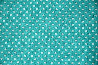 Úžitkový textil - Sťahovacie vrecúško (Tyrkysová) - 10300590_