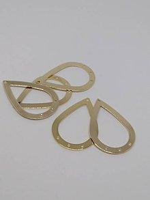 Komponenty - Kovové základy na náušnice - pár (Zlatá) - 10300406_