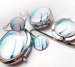Zrkadielka - sada Silver rose - i jednotlivo, text na želanie - 10299912_
