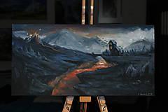 Obrazy - Obraz - Blízko pohromy /maľba akrylom/ - 10301882_