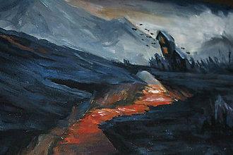 Obrazy - • Blízko pohromy • /maľba akrylom/ - 10301883_