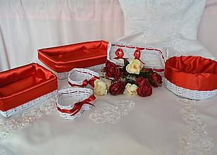 Košíky - Svadobný set - candy bar NIKOL, aj jednotlivo - 10301057_
