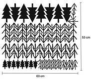 Dekorácie - Nálepky na stenu - Škandinávske stromy (Azúrovo modrá) - 10300566_