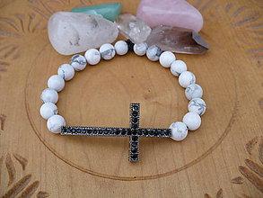 Náramky - náramok s krížikom a Magnezitom - 10301150_