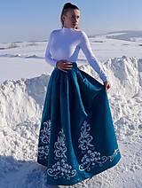 Sukne - Plesová maľovaná sukňa - 10302327_