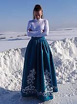 Sukne - Plesová maľovaná sukňa - 10302328_