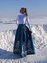 Sukne - Plesová maľovaná sukňa - 10302330_
