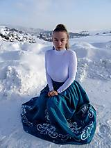 Sukne - Plesová maľovaná sukňa - 10302331_
