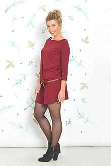 Šaty - Trikošatky Steffi - bordó, vel. S-M - 10302271_