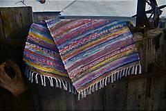 Úžitkový textil - Tkaný koberec pestrofarebný 4 - 10302080_