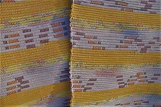 Úžitkový textil - Tkané koberce béžovo-žlto-oranžovo-hnedé - 10300336_
