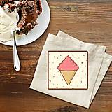 Pomôcky - Stracciatella potlač na koláčik punčová zmrzlina - 10301623_