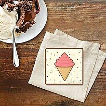 Dekorácie - Stracciatella potlač na koláčik (punčová zmrzlina) - 10301623_