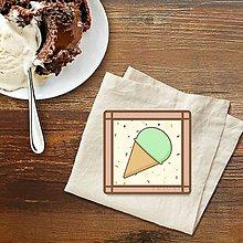 Grafika - Stracciatella potlač na koláčik pistáciová zmrzlina - 10301630_