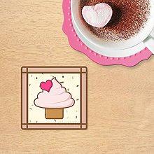 Dekorácie - Stracciatella potlač na koláčik (zamilovaný cupcake) - 10301631_