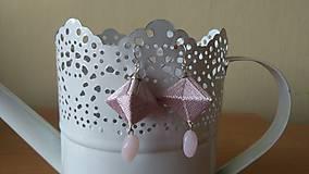 Náušnice - Ružovo strieborná - 10305141_
