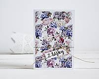 Papiernictvo - Pozdrav štýlový - Kvetiny D - 10305429_