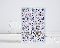 Papiernictvo - Pozdrav štýlový - Kvetiny C - 10305438_