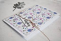 Papiernictvo - Pozdrav štýlový - Kvetiny C - 10305439_