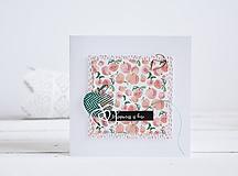 Papiernictvo - Pozdrav štýlový - broskyne s jablkami - 10305486_