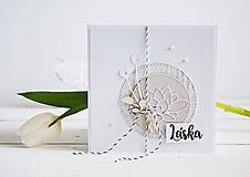Papiernictvo - Svadobný pozdrav - Lotosový kvet II - 10305598_