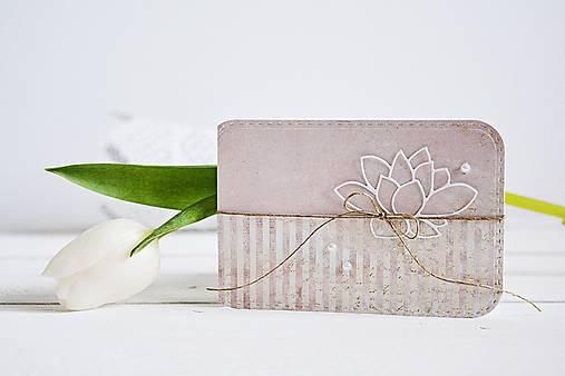 Papiernictvo - Svadobný pozdrav - Lotosový kvet I - 10305604_