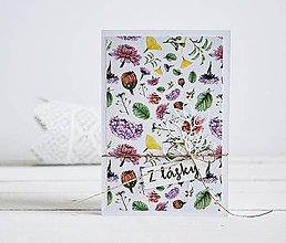 Papiernictvo - Pozdrav štýlový - Kvetiny A - 10305447_