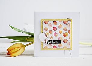 Papiernictvo - Pozdrav štýlový - jabĺčka - 10305501_