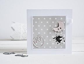 Papiernictvo - Pozdrav pre bábätko - kočík a balerínky - 10305537_