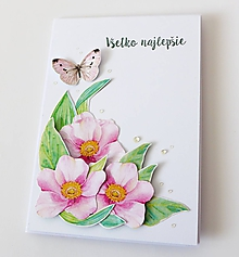 Papiernictvo - pohľadnica s kvetmi - 10303416_