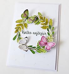 Papiernictvo - pohľadnica s motýľmi - 10304176_