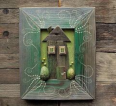 Obrazy - Zelený domček - 10306394_