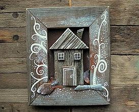 Obrazy - Dom s bielymi špirálkami - 10306423_