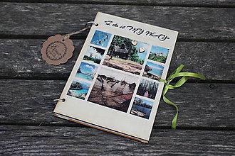 Papiernictvo - Drevenný zápisník - Mozaika - 10304261_