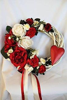 Dekorácie - veniec na dvere svadobný/Valentínsky - 10305476_