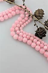 Minerály - ruženín korálky 10mm - celá šnúra 38-39ks - 10305468_