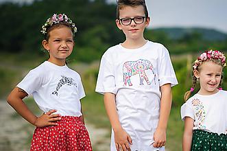 Tričká - Slon, delfín - detské tričko - 10303616_