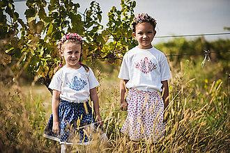 Tričká - Tulipán folk - detské tričko - 10304054_