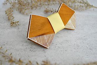 """Doplnky - Drevený motýlik """"Linear Butterfly"""" - 10305697_"""