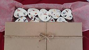 Svietidlá a sviečky - Čajová sviečka zo sójového vosku - srdiečko darčekové balenie - 10304697_
