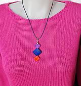 Náhrdelníky - Drevený náhrdelník  - Tri štvorce...:o) - 10305186_