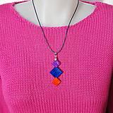 Náhrdelníky - Drevený náhrdelník  - Tri štvorce...:o) - 10305188_