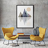 Grafika - Škandinávské hory III (A4 - 210 mm x 297 mm) - 10303592_