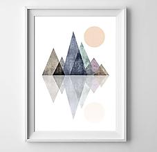 Grafika - Škandinávské hory III - 10303588_