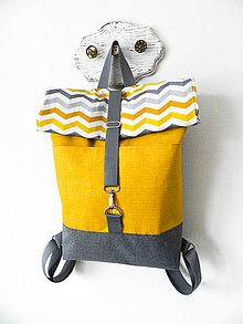 Batohy - Rolltop batoh horčicovo-sivý - 10304658_