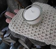 Svietidlá a sviečky - Sójová čajová sviečka BIELA v svietničku - 10304878_