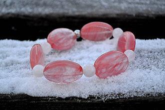 Náramky - Jahodový kremeň , achát náramok - 10304899_